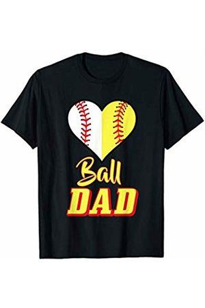 Softball Family Tee Shirts Gifts Mens Softball Baseball Dad T-Shirt Sport Father's Day Present Tee