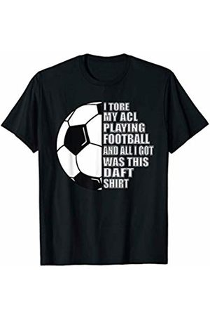 Sports Injury ACL Knee T-Shirt Football ACL Knee Sports Injury Get Well Soon Gift