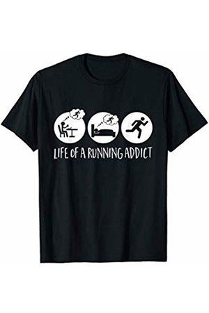 Bowes Fitness Life Of A Running Addict Eat Sleep Run T-Shirt