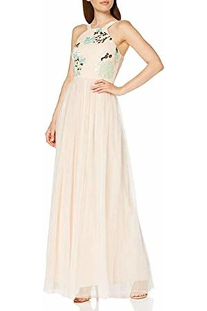 Little Mistress Women's Bea Nude Sequin Maxi Dress Party, 001