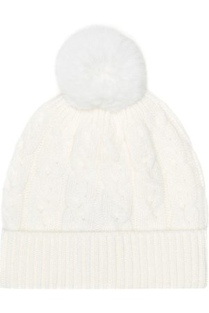 Loro Piana Kids Fur-trimmed cashmere hat