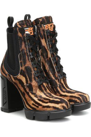 Prada Printed calf-hair ankle boots