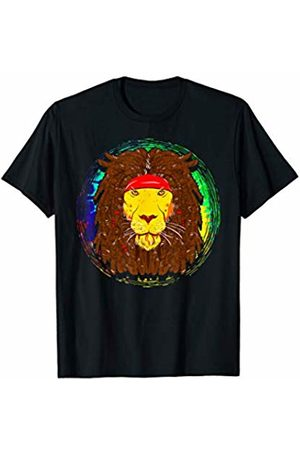 So Cool Designs Cool Hippie Lion with Dreadlocks For Lion Lover T-Shirt