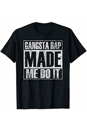 My City Made Me Do It Tees Gangsta Rap Music Made Me Do It Funny Gym Vintage T-Shirt