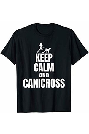 Canicrossd Harness & Apparel Supply Co. Canicross T Shirt Cross Country Dog Running Tee.