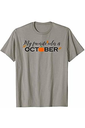Hadley Designs My favorite Color is October Fall Floral Autumn for Women T-Shirt