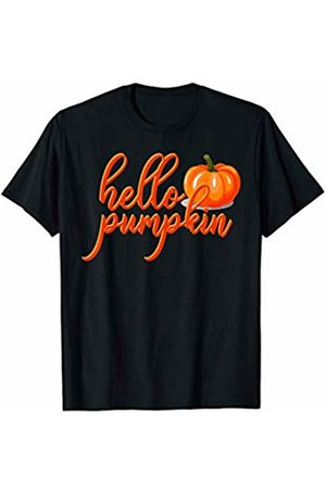 Hadley Designs Hello pumpkin Fall Season Cute for Women Funny Halloween T-Shirt