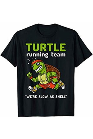 Snail Riding Turtle Forest T-Shirt Turtle Running Team Funny Cardio Marathon Athlete T-Shirt
