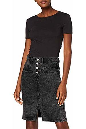 New Look Women's Front Yoke Acid Skirt
