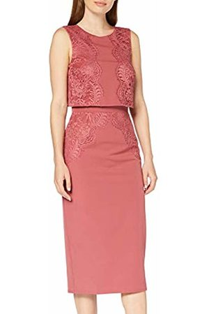 Little Mistress Women Party Dresses - Women's Cassidy Sienna Blush Lace-Trim Pencil Dress Party, 001