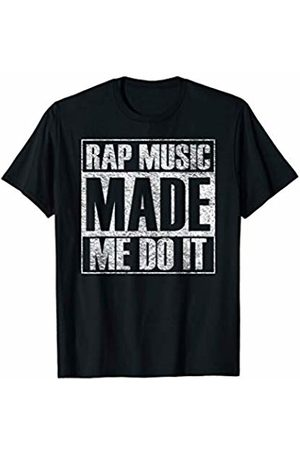 My City Made Me Do It Tees Rap Music Made Me Do It Funny Gym Vintage T-Shirt