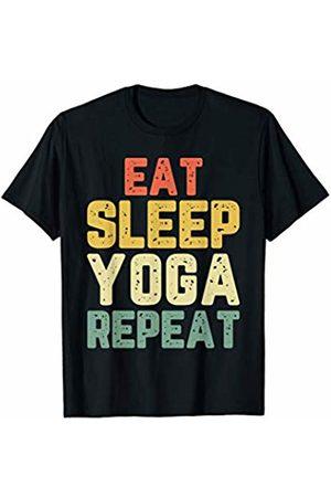 Eat Sleep Yoga Repeat Tees Eat Sleep Yoga Repeat Funny Teacher Spiritual Gift Vintage T-Shirt