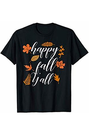 Hadley Designs Happy Fall Y'all Vintage Autumn for Women Thanksgiving Cute T-Shirt