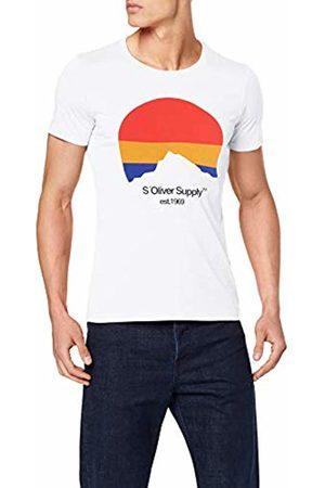 s.Oliver Men's 13.907.32.7851 T-Shirt, ( 0100)