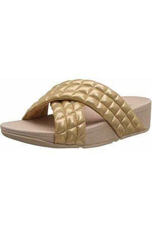 FitFlop Women's Lulu Padded Shimmy Suede Slides Heels Sandals