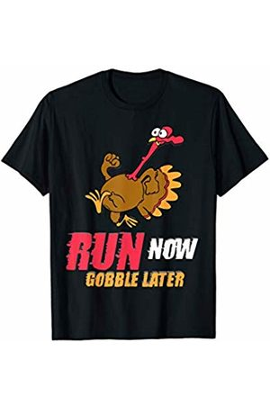Funny Thanksgiving Dinner Running Shirts Co. Run Now Gobble Later Running Thanksgiving Turkey Trot Squad T-Shirt