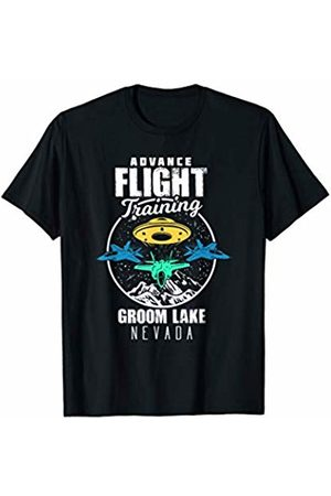 Awesome Conspiracy Theory Alien Shirts & Gifts Alien UFO Groom Lake Nevada Advanced Flight Training Gift T-Shirt