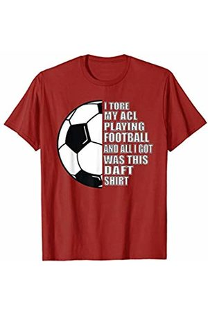 Sports Injury ACL Knee T-Shirt Football ACL Knee Sports Injury Recovery Rehabilitation Gift