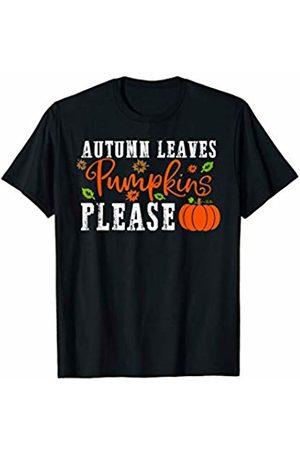 Hadley Designs Autumn Leaves Pumpkins Please Fall Thanksgiving for Women T-Shirt