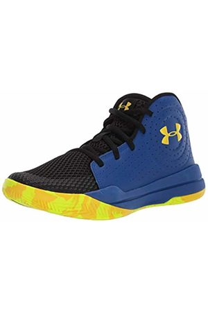 Under Armour Unisex Kid's Grade School Jet 2019 Basketball Shoes, (Royal/ /Taxi 404)