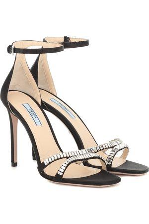 Prada Embellished satin sandals
