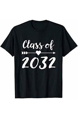 Future Graduation School Tees Class of 2032 Grow with Me Shirt First Day of School (Dark)