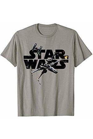 STAR WARS Logo Dogfight Episode 7 Tie Fighter Rebels T-Shirt