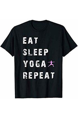 Buy Cool Shirts Eat Sleep Yoga Repeat T-shirt