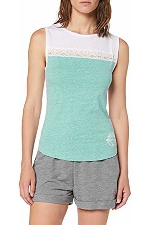 Intimuse Women's Sports Top, Turquoise (Mint Melange/weiß)
