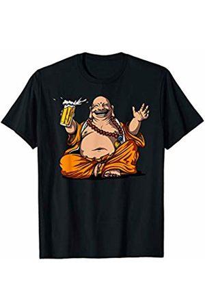 Buddha Zen Yoga Meditation Shirts Buddha Beer Drinking Yoga Meditation Funny Zen Party T-Shirt