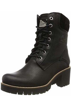 Panama Jack Women's Phoebe Combat Boots, (Negro B17)