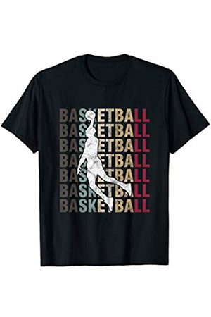 Distressed Vintage Basketball Player Tees & Gifts Retro Basketball Typography BBall Player Sports T-Shirt