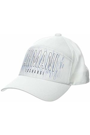 Armani Men's Horizontal Logo Baseball Cap, (Bianco- 00010)