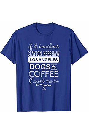 FanPrint Clayton Kershaw If It Involves Or Dogs T-Shirt - Apparel
