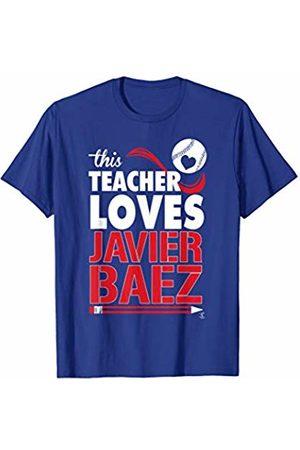 FanPrint Javier Baez This Teacher Loves T-Shirt - Apparel