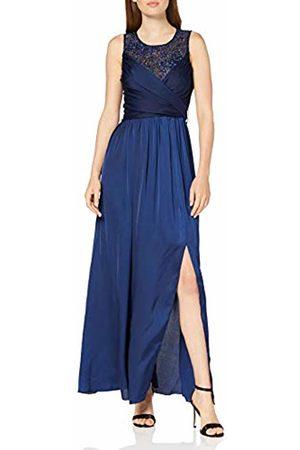 Little Mistress Women's Erin Navy Satin Hand-Embellished Maxi Dress Party, 001
