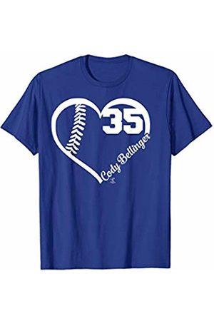 FanPrint Cody Bellinger Heart Number T-Shirt - Apparel