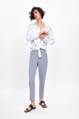 Zara Flecked skinny trousers