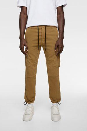Zara Men Cargo Trousers - Soft denim cargo trousers