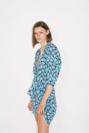 Zara Voluminous printed dress