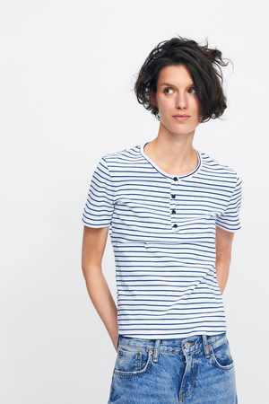 Zara Women T-shirts - Striped t-shirt