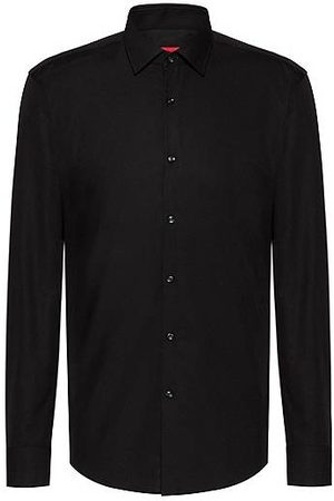 HUGO BOSS Slim-fit business shirt in cotton poplin