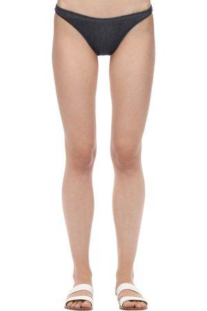 Solid Women Bikinis - Vanessa Denim Bikini Bottoms