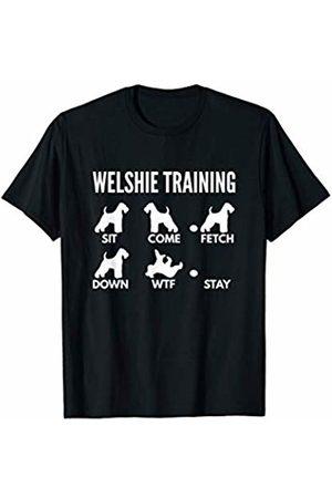 PedigreePrints Welshie Training - Welsh Terrier Tricks T-Shirt
