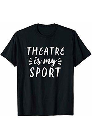 Musical Theater Humor Tees Theatre Is My Sport Drama Club Fun Doodle Dark T-Shirt