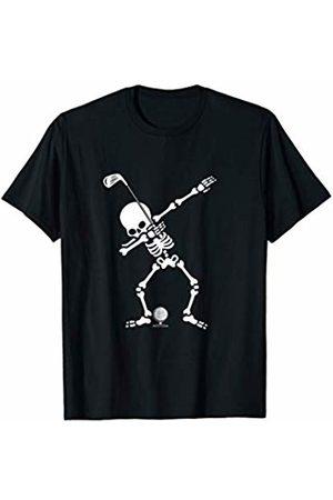 Sports Halloween Shirts Dabbing Skeleton Golf Halloween Costume T-shirt