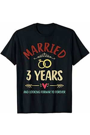 Medotukito 3rd Wedding Anniversary Married Looking Forward To Forever T-Shirt