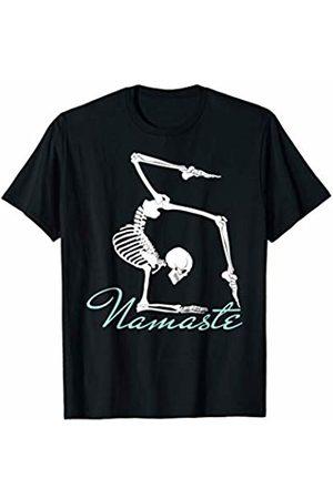 Dark Humor Workout Gym Tees Yoga Skeleton Shirt Namaste Buddhist Meditation Gymnastics T-Shirt