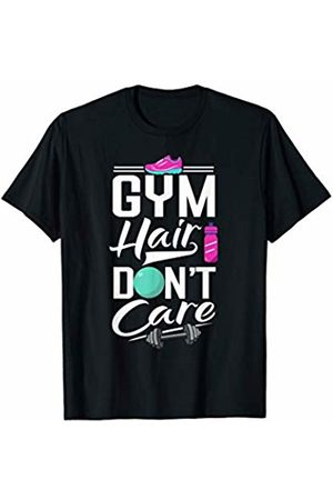 Modern Tees Gym Tshirts Gym Hair Don't Care Shirt Funny Gymnast Gymnastics Exercise T-Shirt