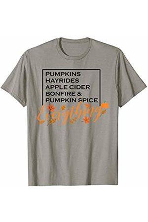 Hadley Designs Pumpkins Hay Rides Apple Cider Bonfire Spice Everything Fall T-Shirt